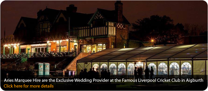 Aries Marquee Hire are the Exclusive Wedding Provider at the Famous Liverpool Cricket Club in Aigburth