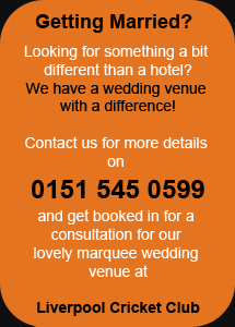 Exclusive Marquee Wedding Venue at the Liverpool Cricket Club