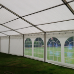 If you are planning on feeding the 5,000 or are planning on hosting a workshop or a live music event in your marquee, it might be best to go for one of our larger structures.