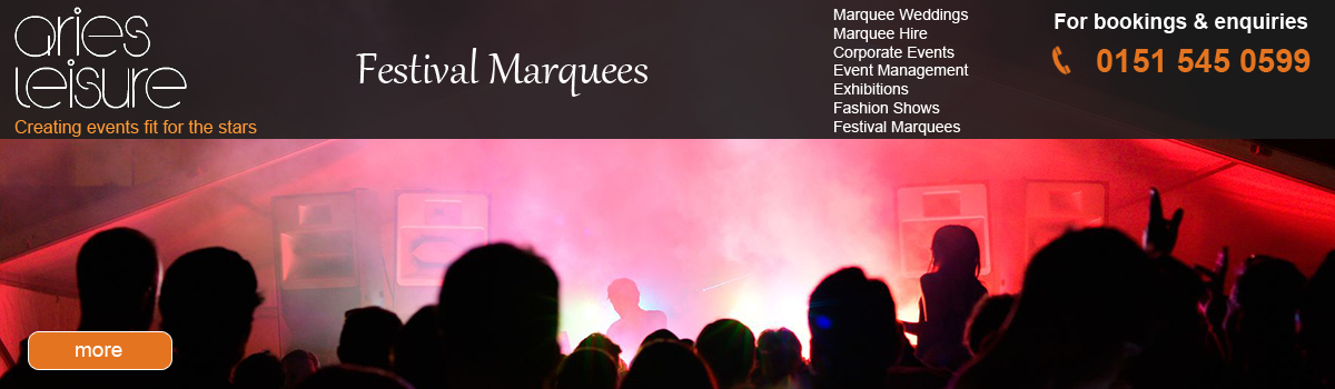Marquee hire for your Festival Events