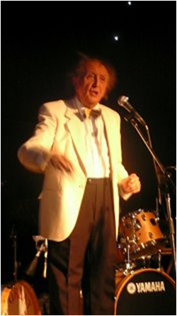 Ken Dodd performing at one of our Corporate Marquee functions in Liverpool