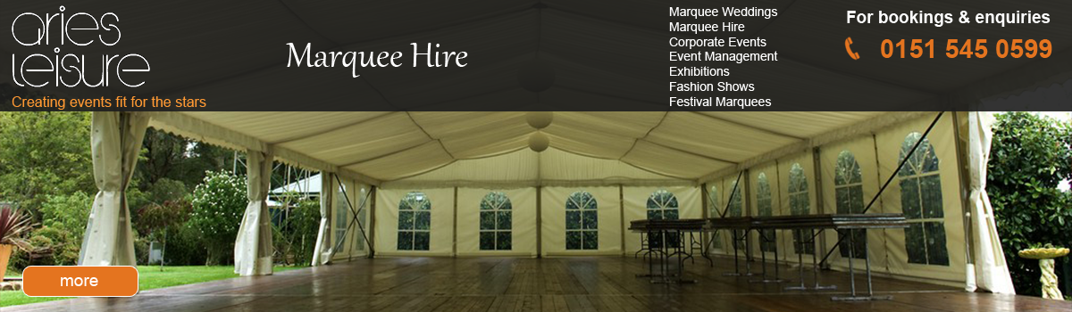 Marquee hire in Liverpool and the north west