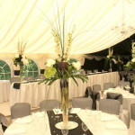 Table Decorations for the perfect Marquee Wedding setting