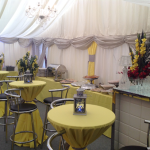 We also supply tables, chairs, trestles, lighting and flooring, and we can recommend reliable suppliers such as entertainers, mobile bars, hog-roasts, flowers, cakes, ice-cream barrows, refrigeration, portable loos, etc.