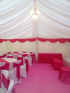 sweet 16th party marquee hire