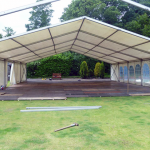Setting up a Marquee for a Corporate event