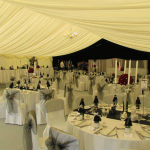 Table Decorations are so important for any Marquee Wedding and we ensure we dress our tables to the highest standard
