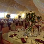 Perfect table dressings for your special Marquee Wedding day in Liverpool