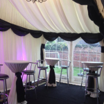 A Wedding marquee can be set up practically anywhere you want