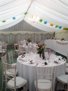 vintage wedding marquee hire