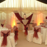 Perfect chair covers and settings for your Marquee Wedding day
