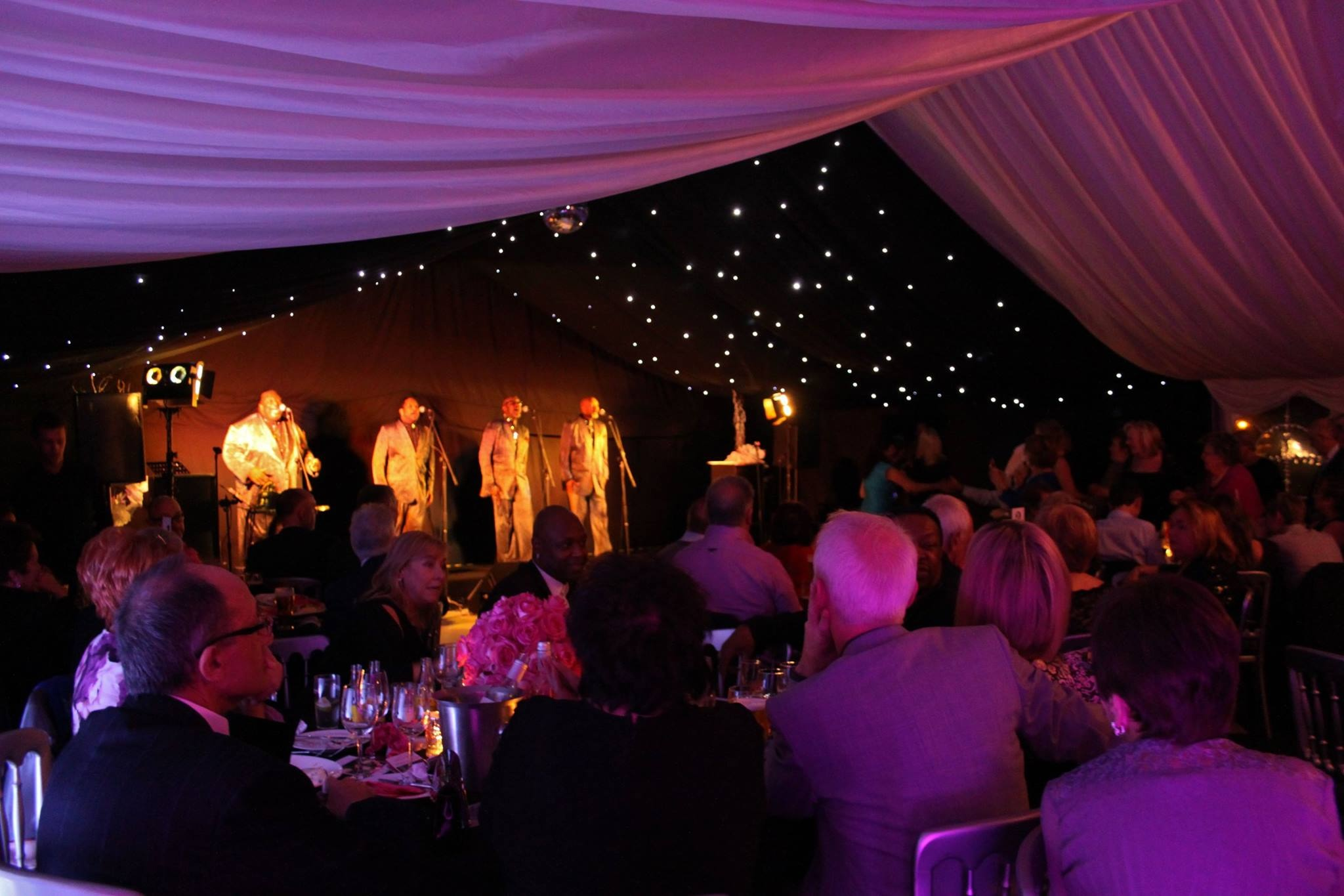 Four tops perform at marquee venue at Liverpool cricket club